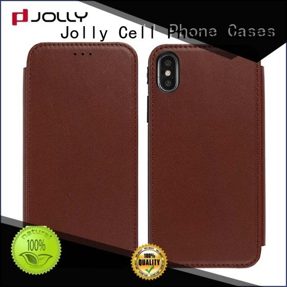 Jolly pu leather flip phone case supply for iphone xs