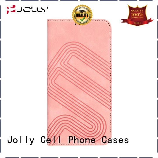 Jolly flip phone covers with strong magnetic closure for sale