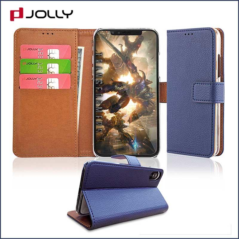 iPhone X Cell Phone Cases, Leather Wallet Phone Case With Cash Compartment DJS0497