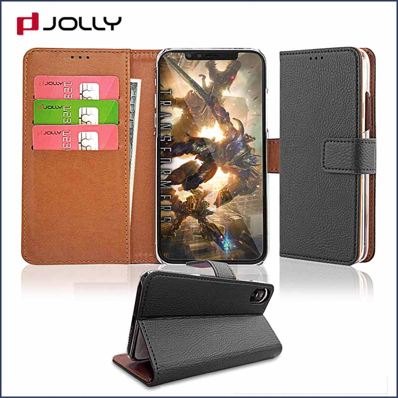 Jolly high quality leather wallet phone case supplier for mobile phone-1