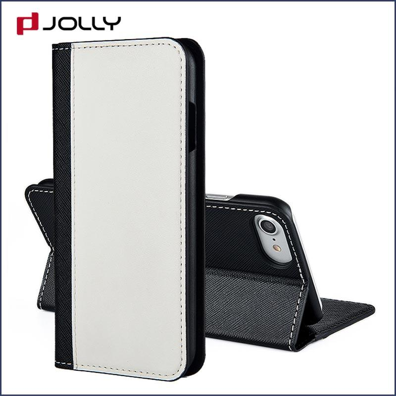 iPhone 8 7 Cell Phone Accessories, Artificial Leather Wallet Phone Cover Printed Pattern DJS0551