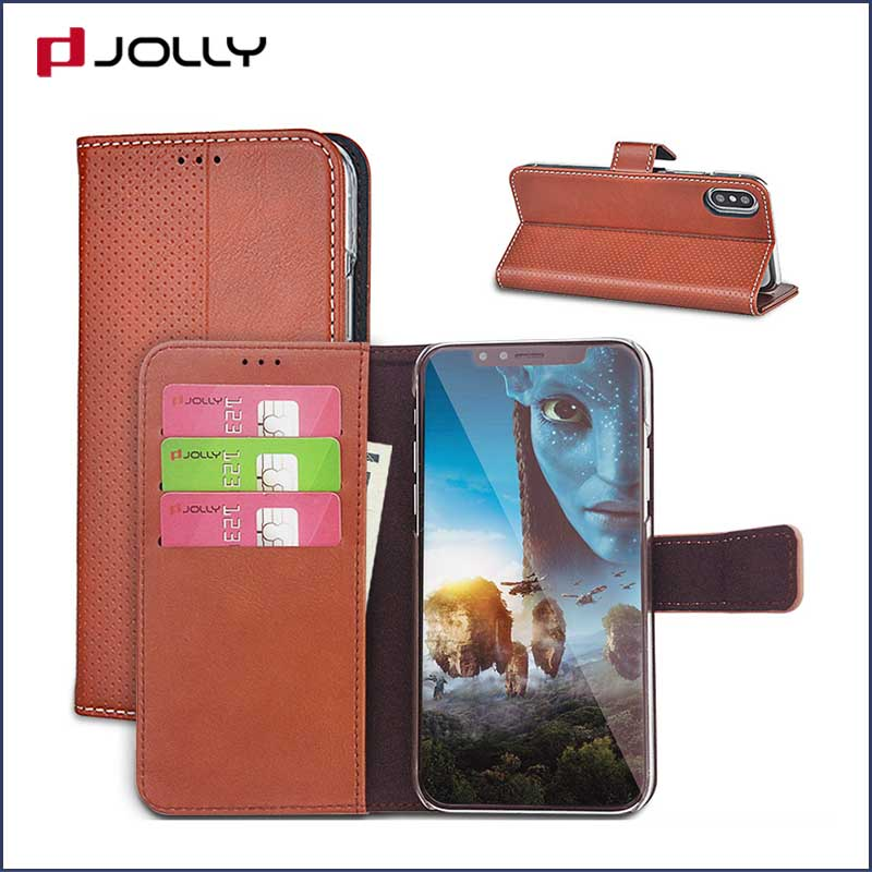 Jolly best cell phone wallet wristlet for busniess for iphone xs-1
