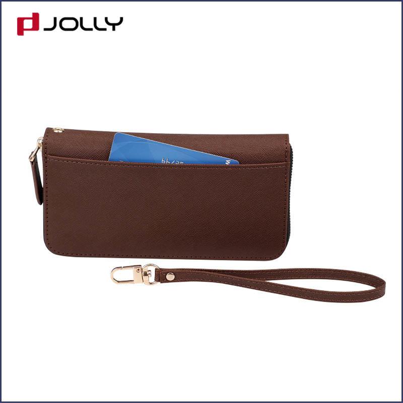 Women's Leather Zip Around Wallet Travel Purse Wristlet Phone Wallet Case Clutch DJS0918