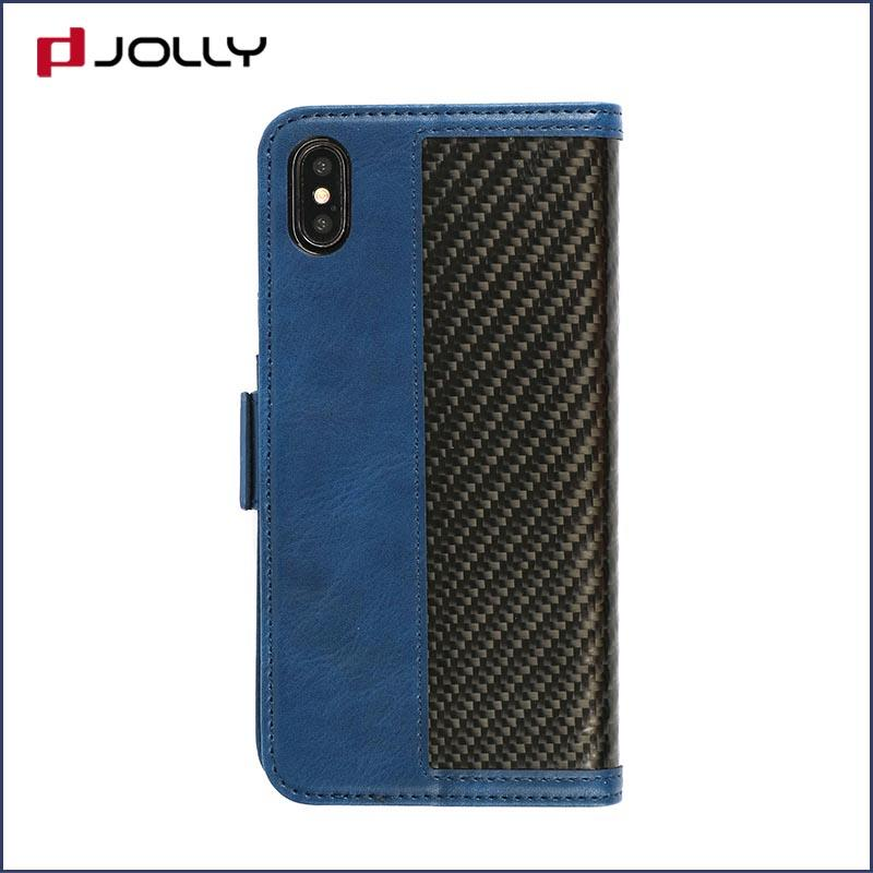Case For iPhone Xs Max, Real Carbon Fiber Phone Case Rfid Blocking Features DJS0982
