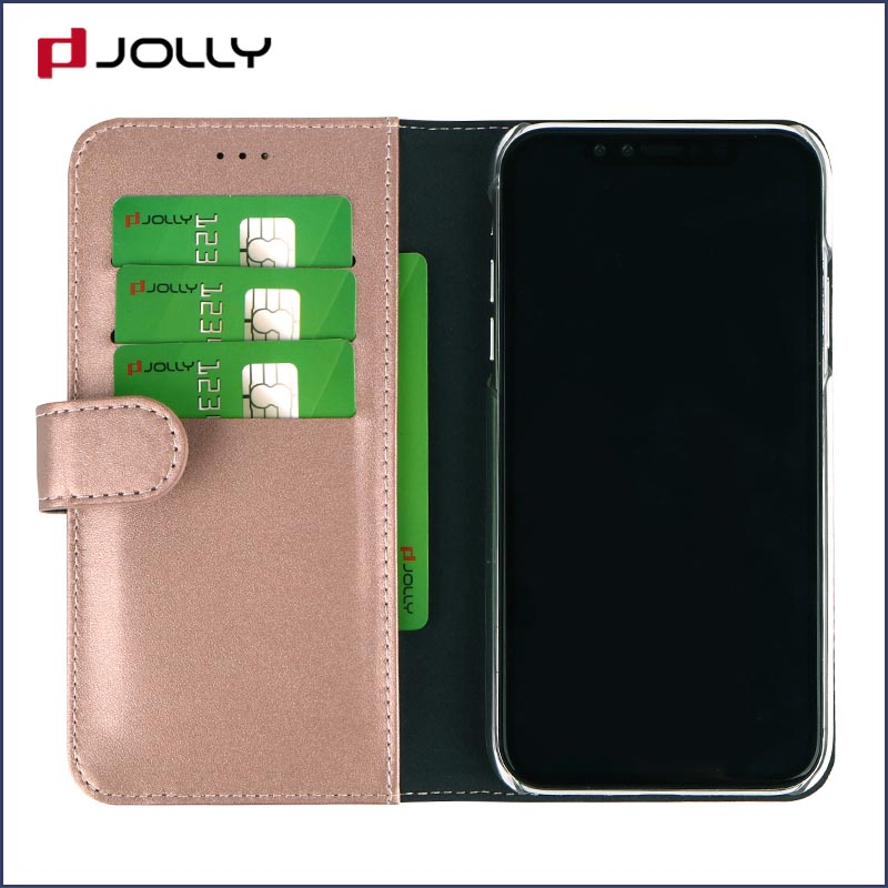 Jolly ladies purse crossbody leather wallet phone case for busniess for iphone xs-8