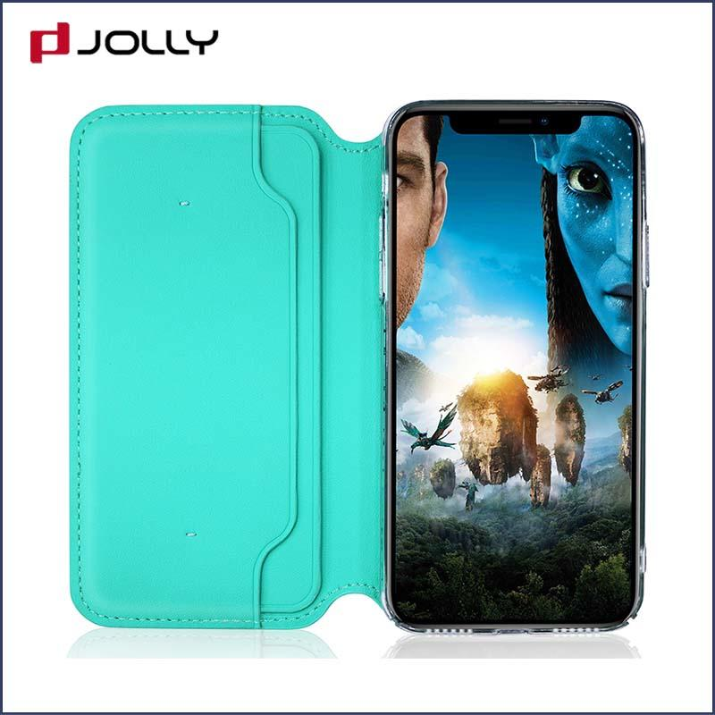 Custom iPhone X Cases, Leather Folio Phone Case With Credit Card Holder DJS0752