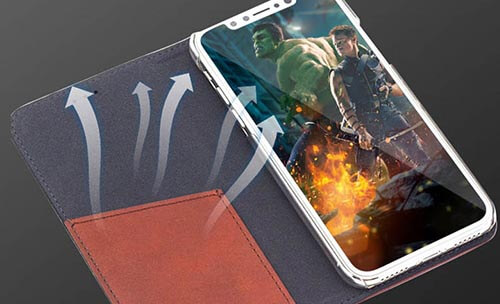 Jolly anti radiation phone case with id and credit pockets for iphone xs-11