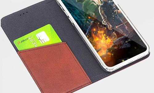 Jolly anti radiation phone case with id and credit pockets for iphone xs-10