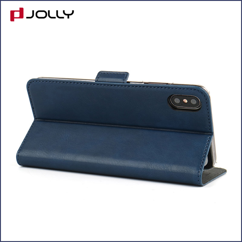 Jolly slim leather initial phone case company for iphone xs-7