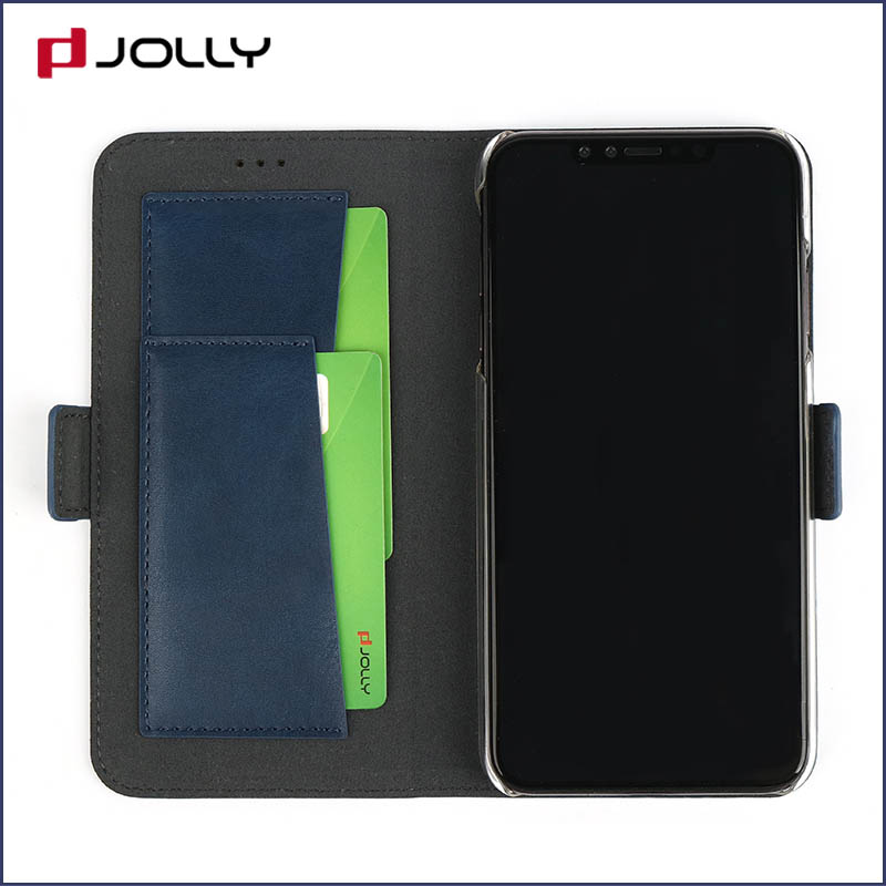 Jolly slim leather initial phone case company for iphone xs-6