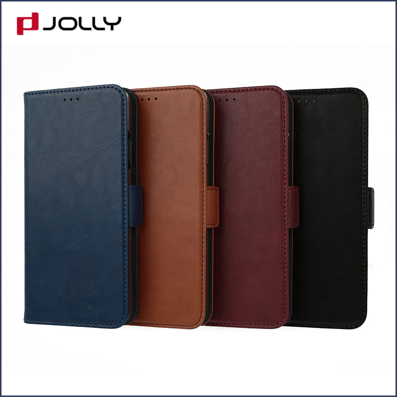 Jolly slim leather initial phone case company for iphone xs-4