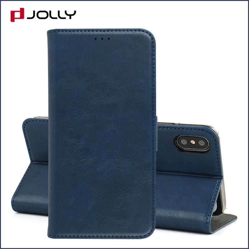 Jolly slim leather initial phone case company for iphone xs
