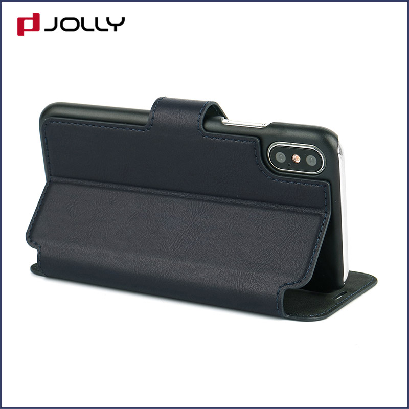 slim leather flip phone case with id and credit pockets for sale-8