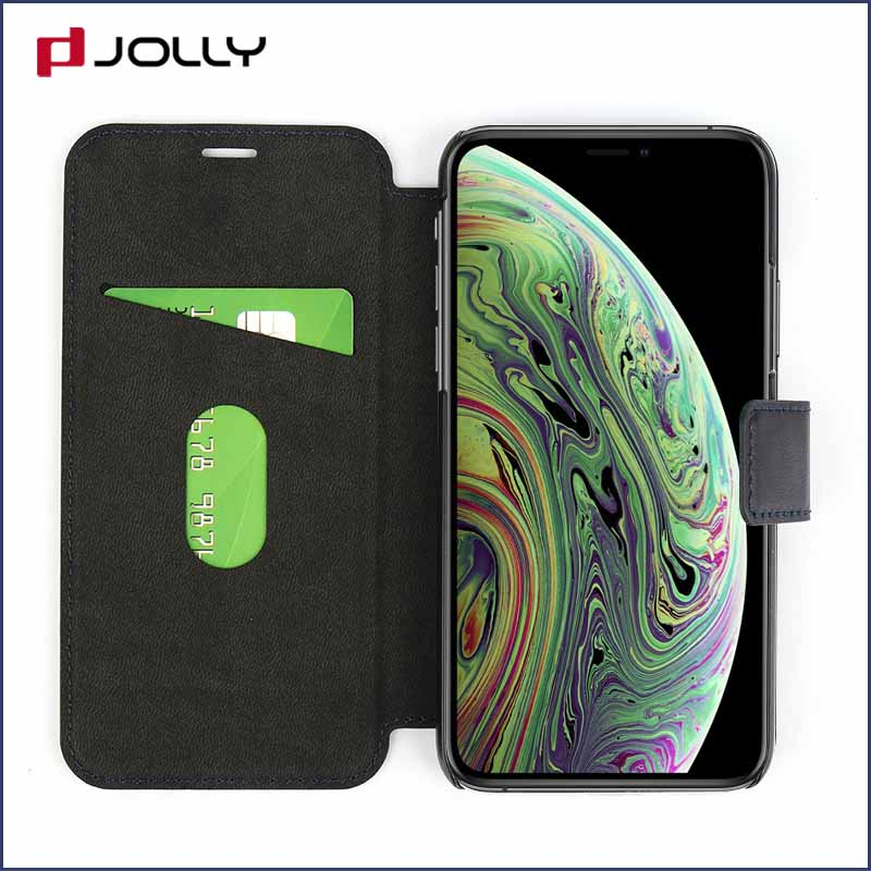 slim leather flip phone case with id and credit pockets for sale-7