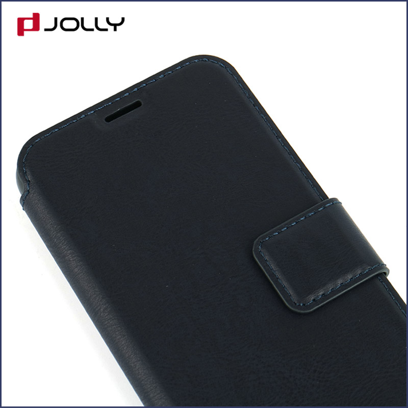 slim leather flip phone case with id and credit pockets for sale-6