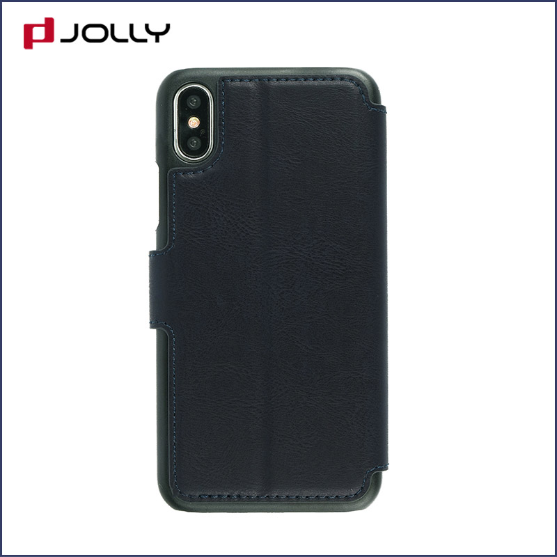 slim leather flip phone case with id and credit pockets for sale-5