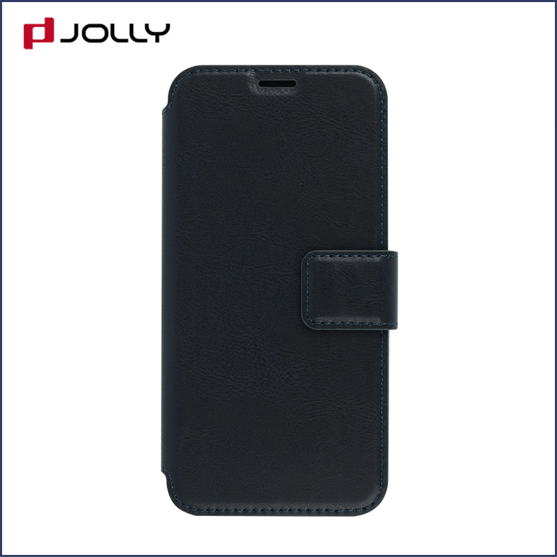 slim leather flip phone case with id and credit pockets for sale-10