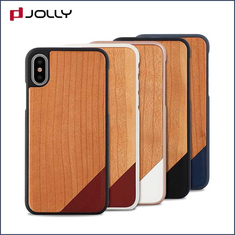 iPhone X/Xs Wood Phone Case, Natural Wood Engraving Shock Absorption Slim Thin Protective Cover DJS0736