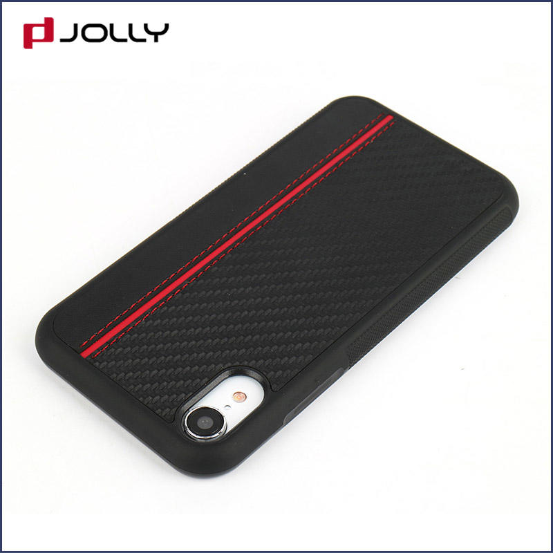 iPhone Xr Phone Cover, Slim Spliced Two Leather Phone Case DJS1009
