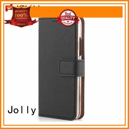 Jolly ladies purse crossbody iphone wallet phone case with id and credit pockets for apple