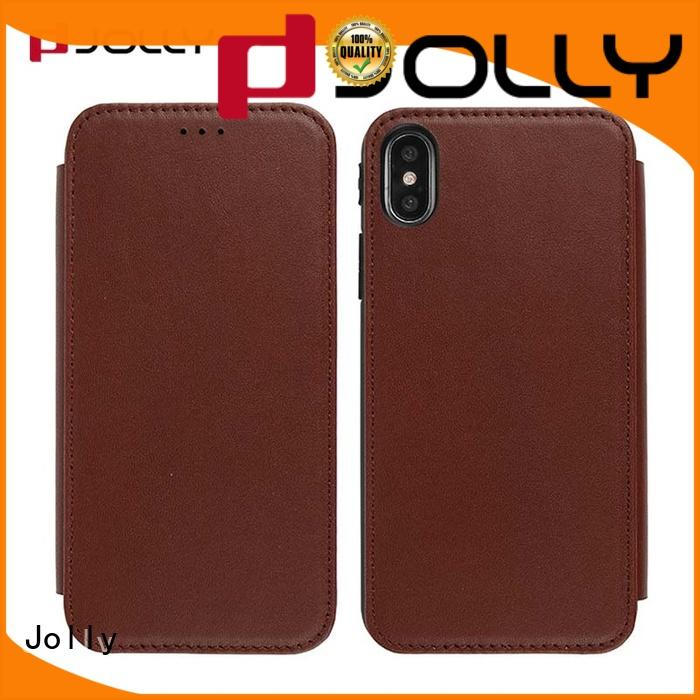 slim leather initial phone case with slot for sale