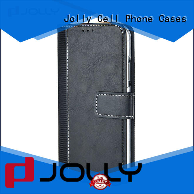 Jolly zip around magnetic wallet phone case with printed pattern cover for mobile phone