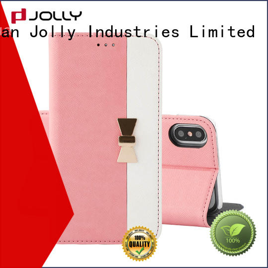 Jolly initial mobile flip case with strong magnetic closure for sale