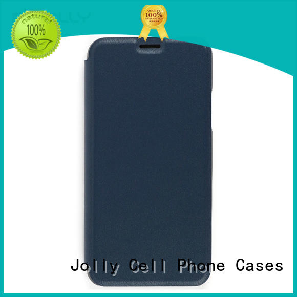 Jolly flip phone covers with slot kickstand for mobile phone