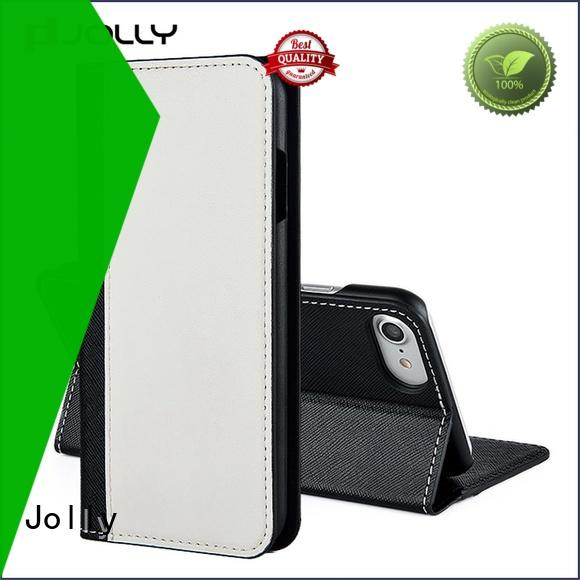Jolly leather cell phone wallet company for sale