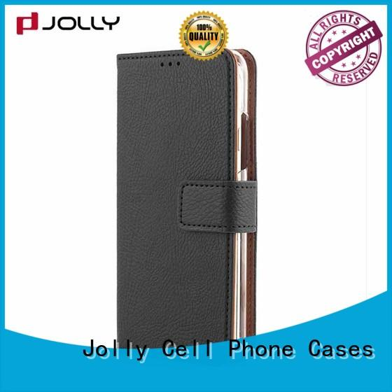 book leather cell phone wallet case with id and credit pockets for sale