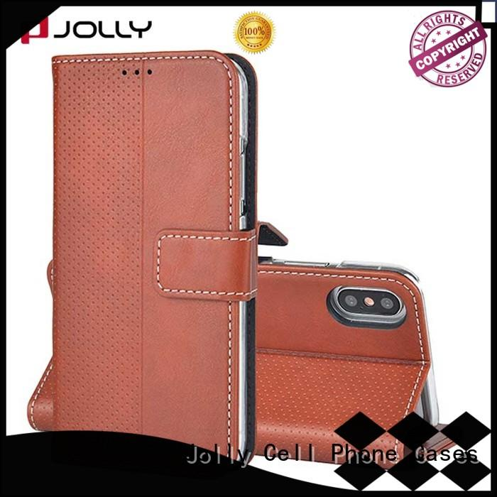 Jolly designer wallet phone case with printed pattern cover for mobile phone