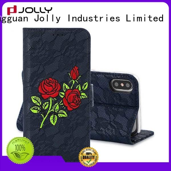 Jolly latest mens cell phone wallet factory for iphone xs
