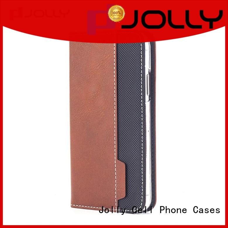 Jolly initial flip cell phone case supply for mobile phone