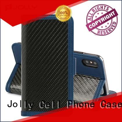 Jolly phone case and wallet with cash compartment for iphone xs
