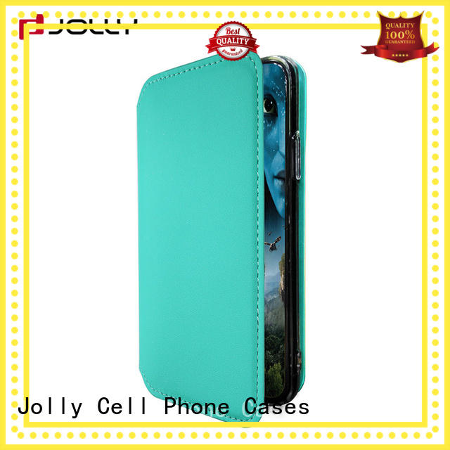 Jolly best flip phone covers with id and credit pockets for mobile phone