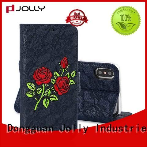 Jolly luxury detachable wallet phone case cell maker