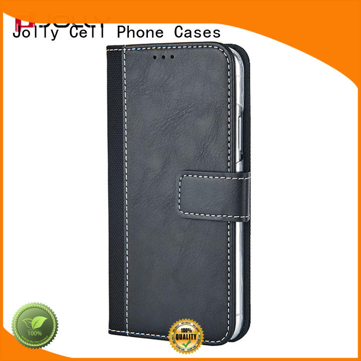 Jolly wallet phone case with printed pattern cover for apple