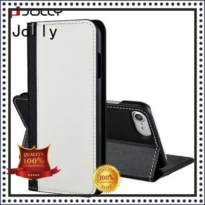 Jolly imitation wallet phone case with credit card holder for sale