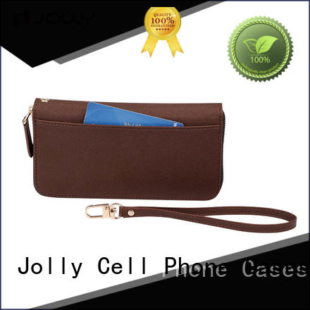 zip around wristlet wallet phone case with slot for apple Jolly