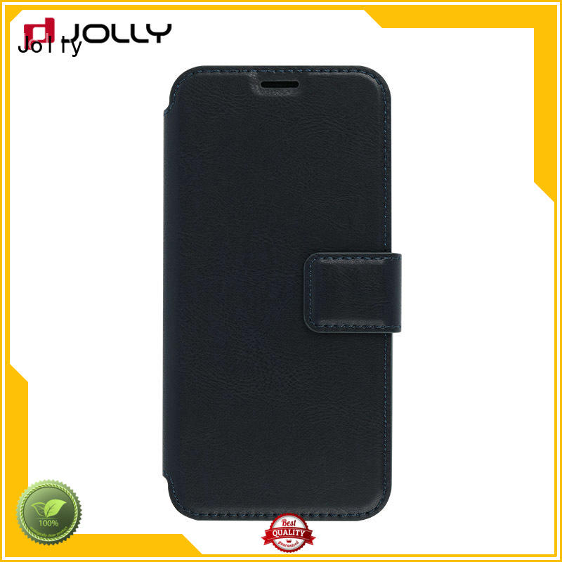Jolly djs flip open phone case with slot for sale