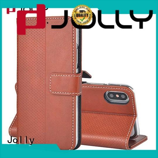 Jolly leather wallet phone case supply for mobile phone