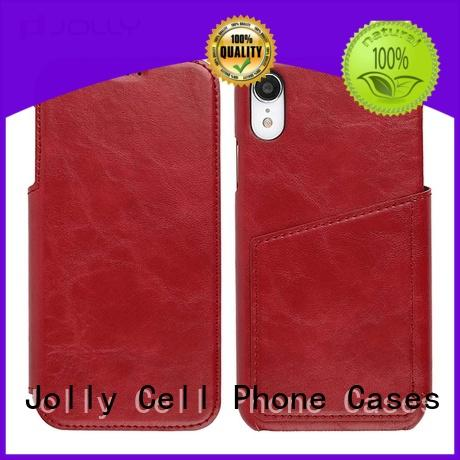 iPhone Xr Cover Leather Folio Phone Case With Id & Credit Card Pockets DJS0996