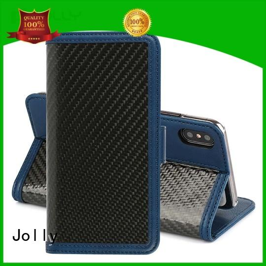artificial zipper phone wallet with rfid blocking features for apple Jolly