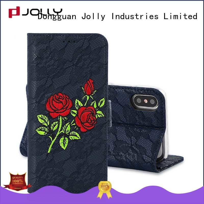 Jolly imitation wallet case company for apple