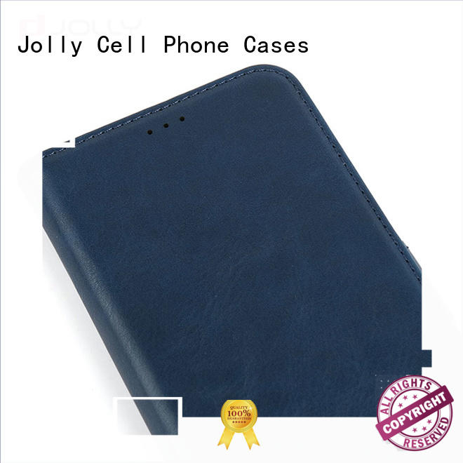Jolly initial personalised leather phone case high quality for iphone xs