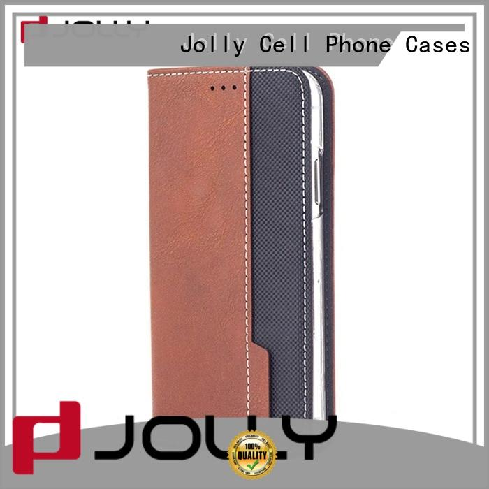 leather flip phone case with slot for iphone xs Jolly