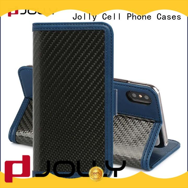 Jolly best mens cell phone wallet supply for iphone xs