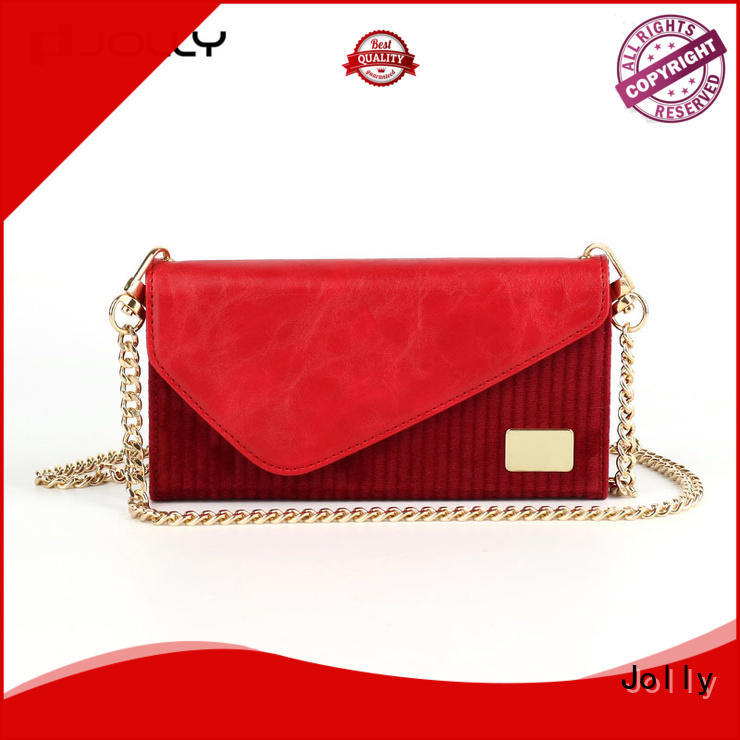 Jolly hot sale wallet purse phone case with rfid blocking features for sale