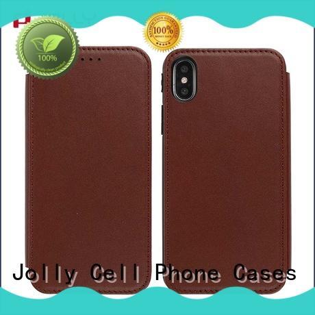 Jolly folio flip phone case manufacturer for mobile phone