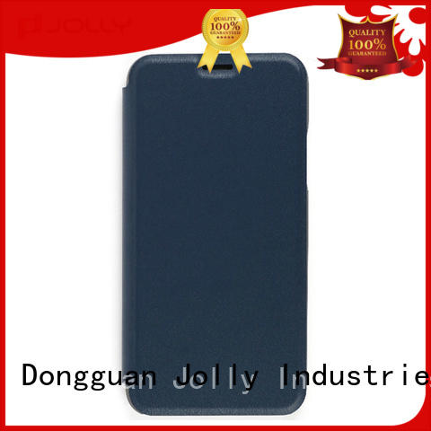Jolly pu leather cell phone protective covers with strong magnetic closure for sale